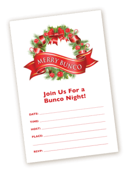 Christmas Bunco Invitation