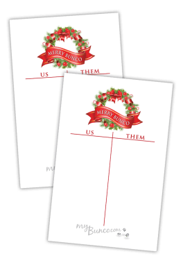 Free Tally Sheet - Holiday Bunco
