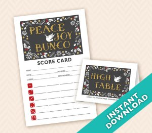 Peace Joy & Bunco