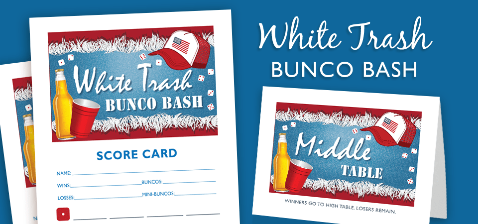 White Trash Bunco Bash – Bunco Party Theme