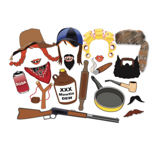 Hillbilly Redneck Photo Props – White Trash Bunco Bash