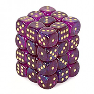 Purple and Gold Dice Set
