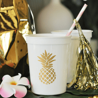 Gold Pineapple Cup