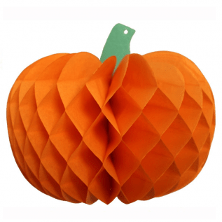 Tissue Paper Pumpkin Decoration