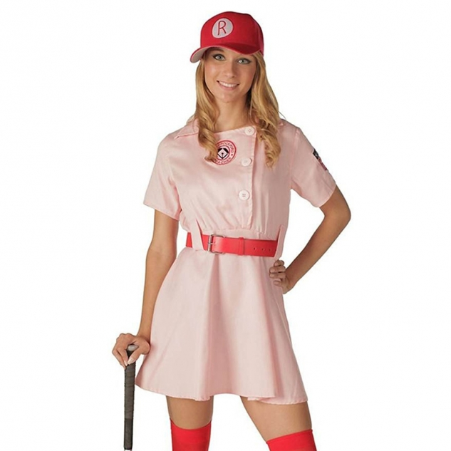 A League of Their Own Rockford Peaches AAGPBL Baseball Womens Costume Dress