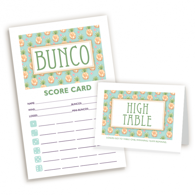 Pineapple Bunco Set