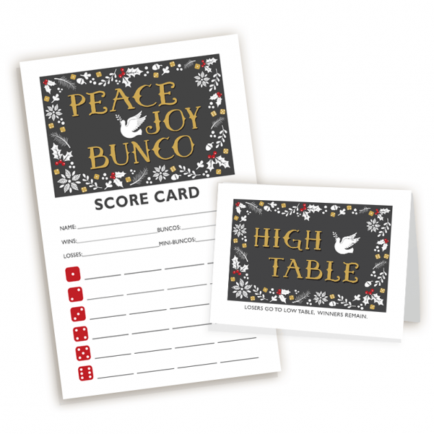 Peace, Joy & Bunco Set