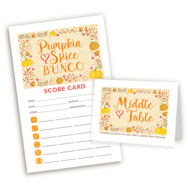 Pumpkin Spice Bunco Set