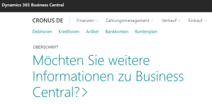 Read more about the article Was ist Microsoft Business Central?