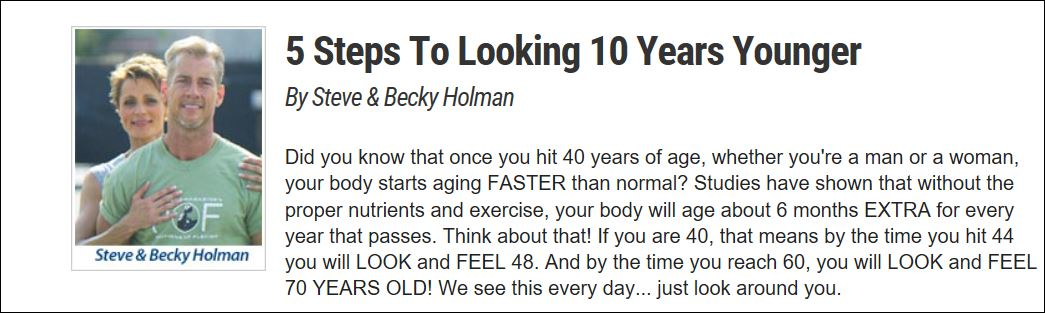 10 Years Younger Methods