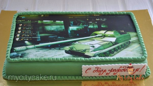 Торт с фотопечатью танка на заказ – Кондитерская студия ...
