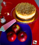 Apple crumble cheesecake, qui la ricetta: http://wp.me/p2x5x0-10F