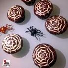 Spider's web cupcake http://wp.me/p2x5x0-1dD