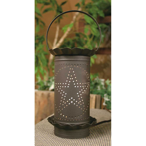 PUNCHED STAR WAX WARMER