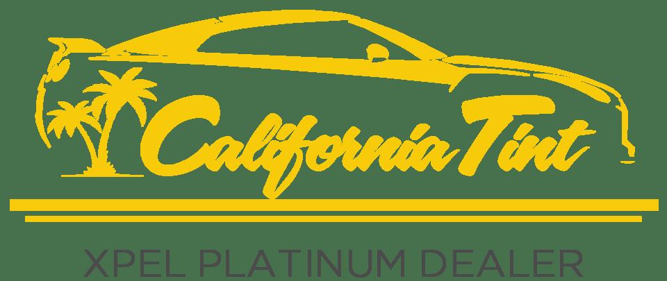 yellow california tint xpel platinum dealer logo