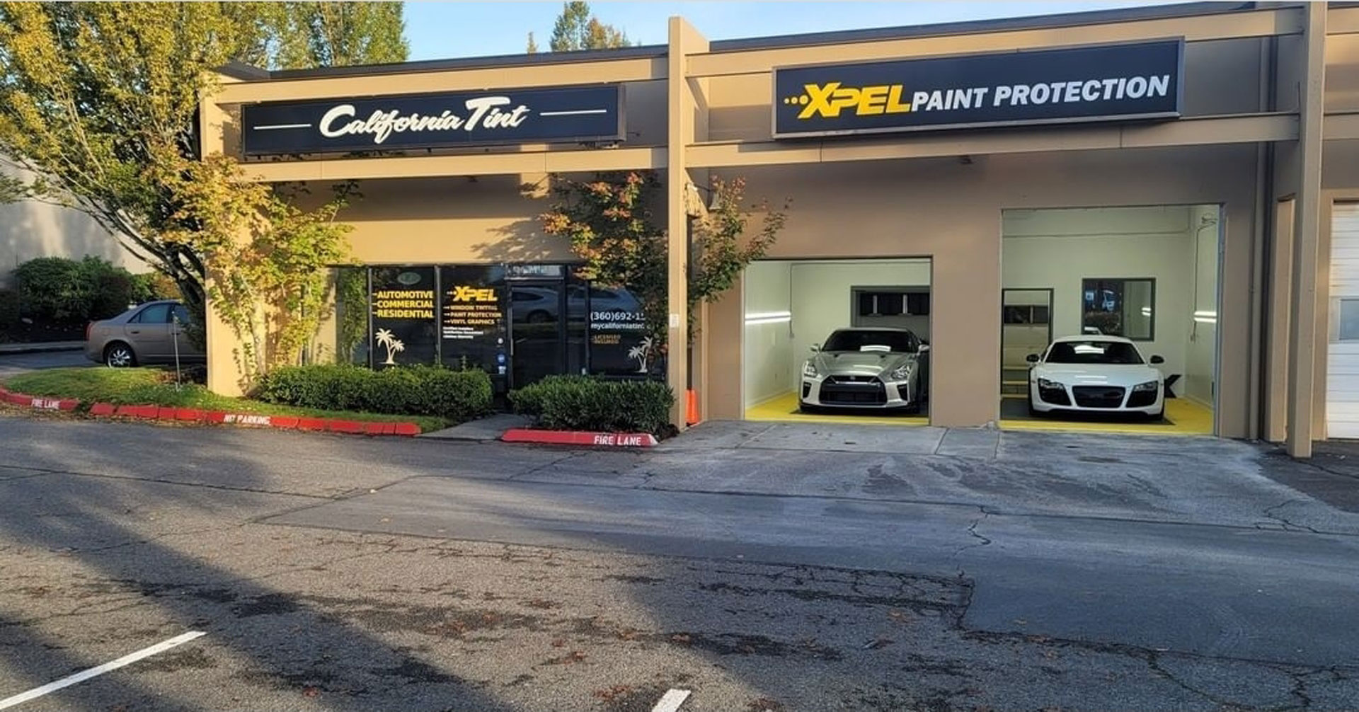 california tint xpel paint protection building