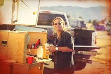 Happy Camper Using My Camp Kitchen Products