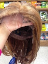 Lace front wig - before lace is cut