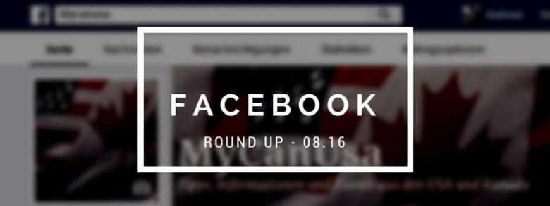 Facebook Round Up 08/2016