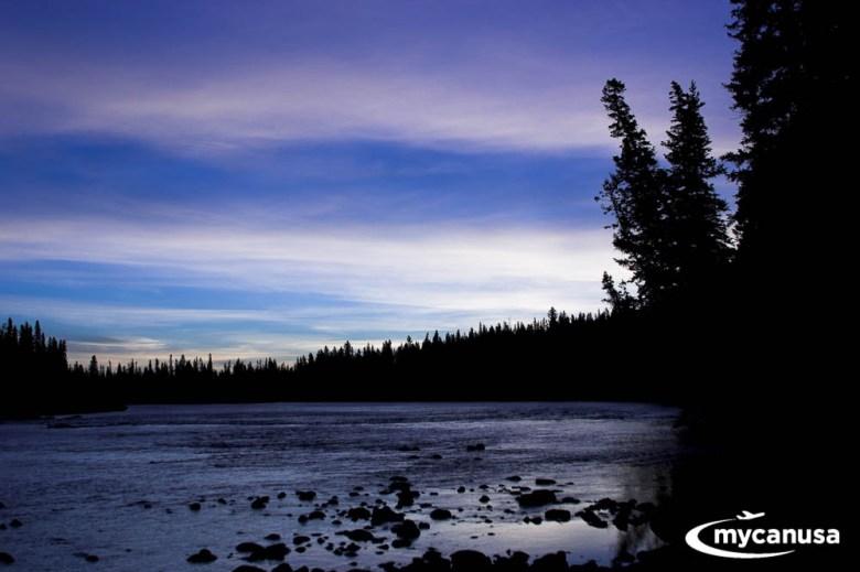 Amerika Krankheit Daemmerung im Banf Nationalpark - Kanada