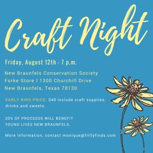 Ladies Night Out: Craft Night @ New Braunfels Conservation Society | New Braunfels | Texas | United States
