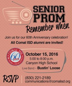 Senior Prom: Remember When? @ Canyon High School | New Braunfels | Texas | United States