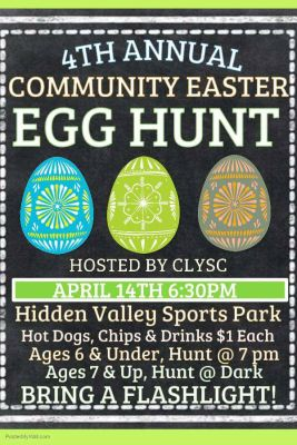 CLYSC Easter Egg Hunt @ Hidden Valley Sports Park | Canyon Lake | Texas | United States