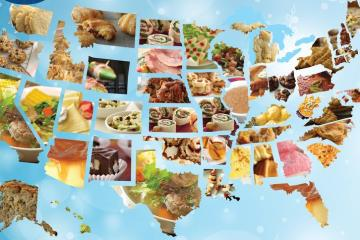 Map of food favorites by state.