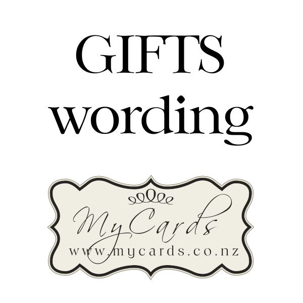 Gifts Wording Zoom