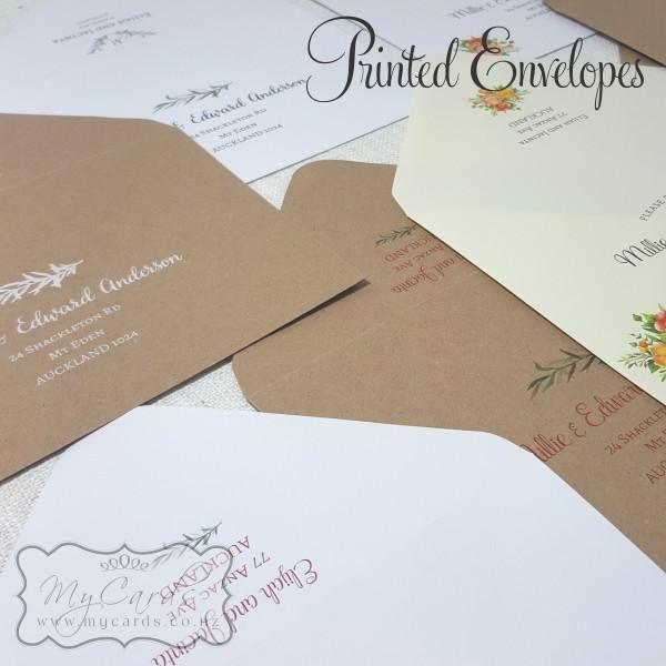 Printed Wedding Envelopes Guest Names And Addresses Auckland Nz Mycardsmycards