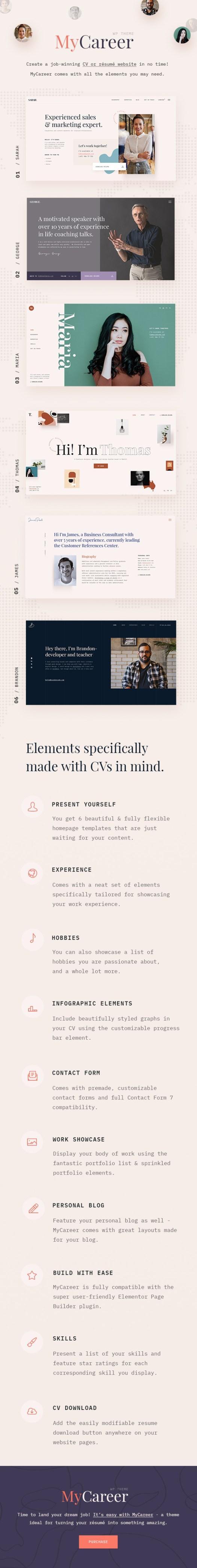 MyCareer - Resume WordPress Theme - 1