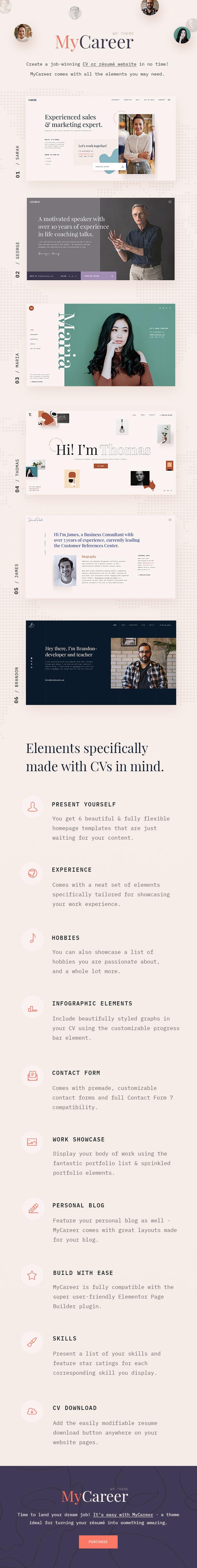 MyCareer - Resume WordPress Theme - 2