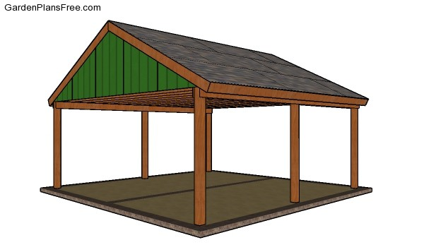 2-car-Gable-Carport-Plans