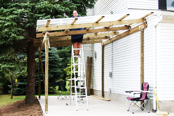 5 free attached carport plans for Attached carport plans free