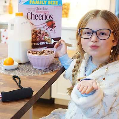 Hadley's 100th DAY of school with Milk Means More