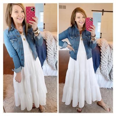 Need a fun white maxi dress?