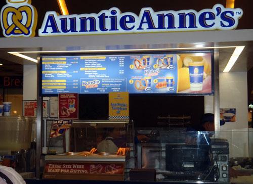 Auntie Anne's in SM City Cebu