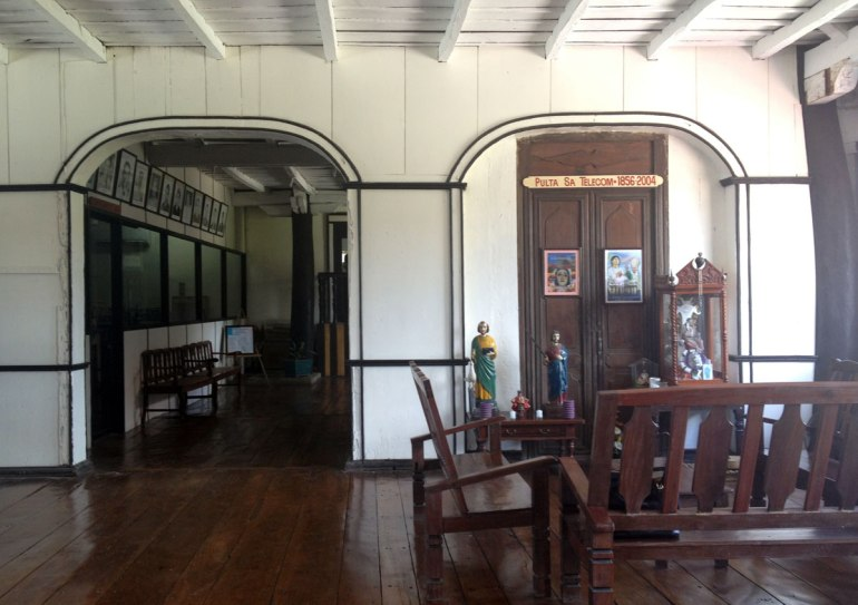 Inside Casa Real in Argao. The door to the right used to lead to the old telecoms office.