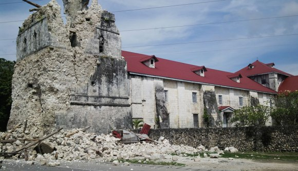 The centuries-old Baclayon Church, reportedly the second oldest in the country, was not spared by the quake.