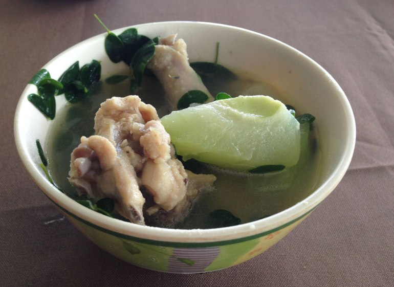 Native chicken tinola: the meat was a little hard but it was delicious.