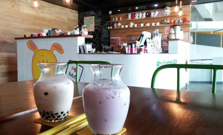 Roomy and comfortable interior of Bubble Bee Tea House at Skyrise 3 in Cebu IT Park.