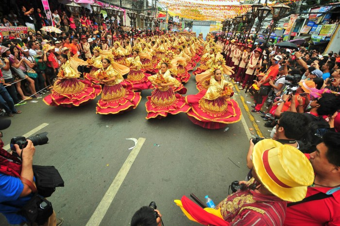 SINULOG BEAT. The grandest festival in the country opens early in the morning today with a religious walk. Cebu City Mayor Michael Rama is prepared to transfer performances if bad weather hits the city on the day of the grand parade. (Photo by Lito Lapure used with permission from the Sinulog Foundation)