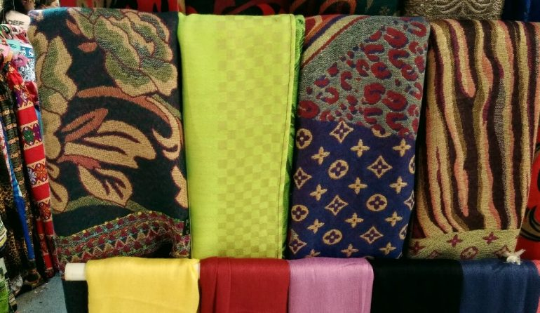 SCARVES from Zamboanga City are among the items on sale at the fair. (Photo by Max Limpag)
