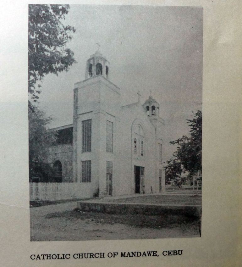 The Mandaue church in 1962.