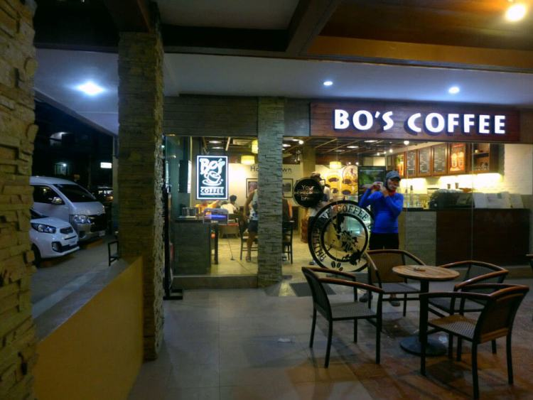 Bo's Coffee in Datag, Maribago
