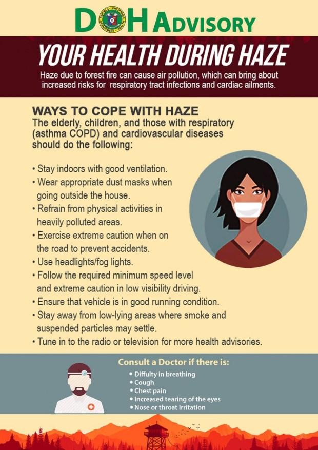 DOH advisory haze