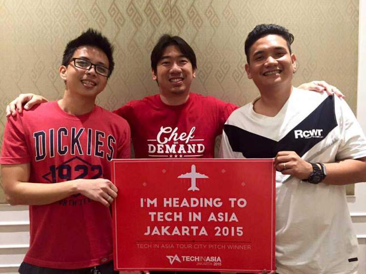 CO-FOUNDERS (from left) Jed Hatamosa, Bryan Yap, and Cacho Menguito are heading to Tech In Asia Jakarta 2015 along with other members of the team. (Taken from Bryan Yap's Facebook post)