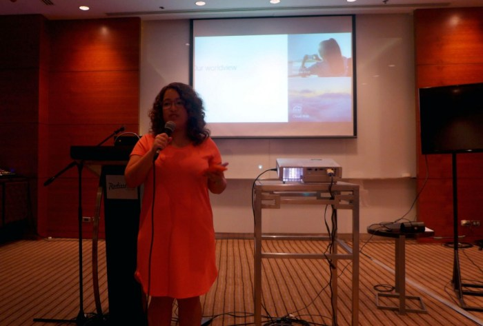 PRODUCTIVITY BOOST. Microsoft Philippines communications manager Pia de Jesus says Windows 10 provides productivity boost by enabling people to work from anywhere and yet providing important enterprise security protection.