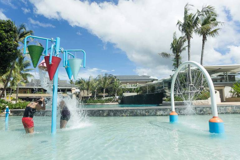 WATER FUN. The kiddie pool in Be Grand Resort Bohol offers fun water play options.