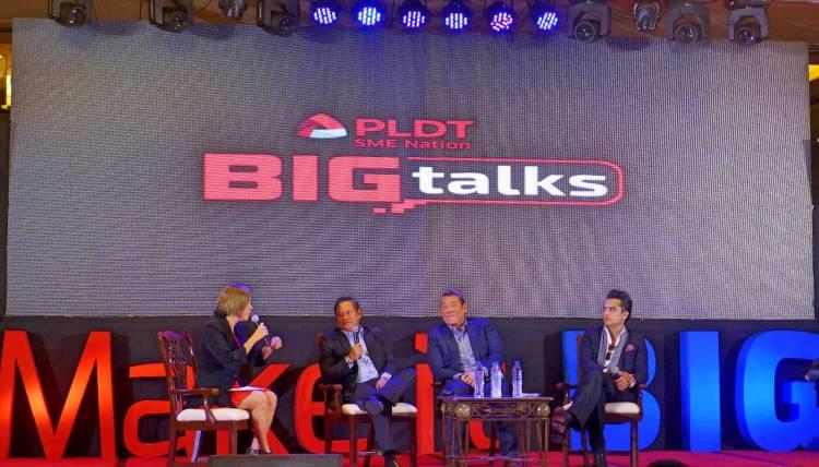 Bernie Liu, Justin Uy, Joseph Calata, PLDT Big Talks